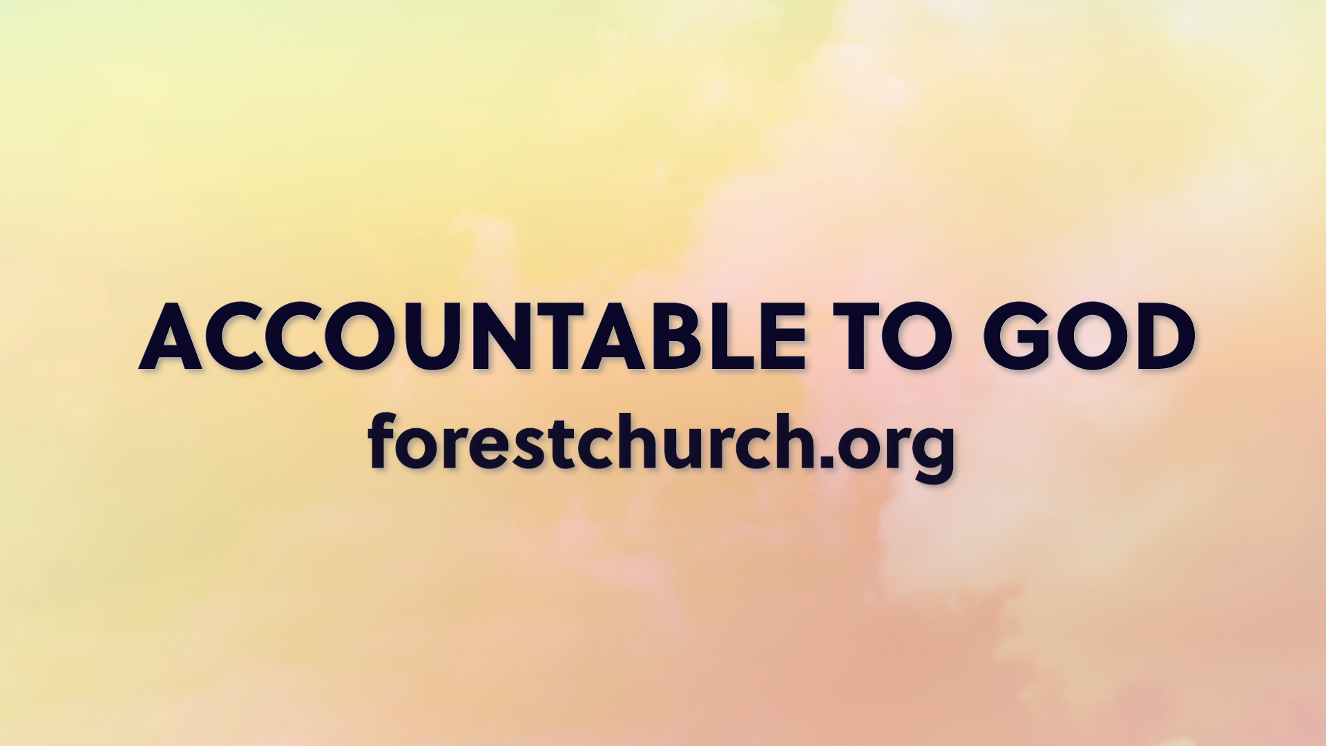 Accountable to God