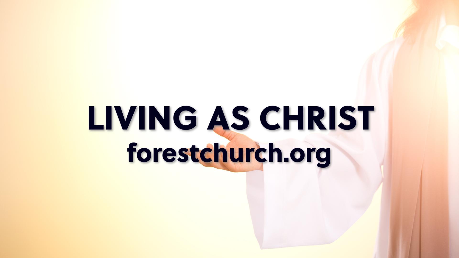 Living as Christ
