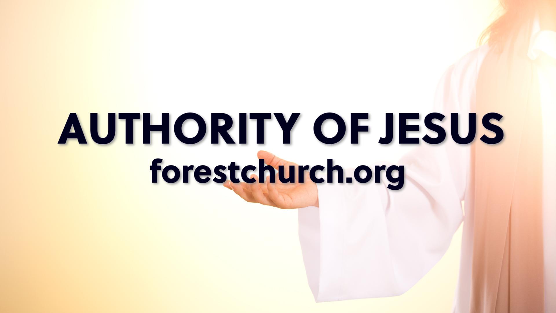 Authority of Jesus
